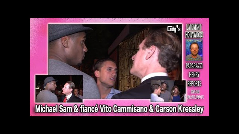 NFL Star Michael Sam Fiance Vito Cammisano Party with Carson Kressley