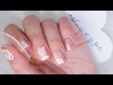 Нежный дизайн ногтей с завитками