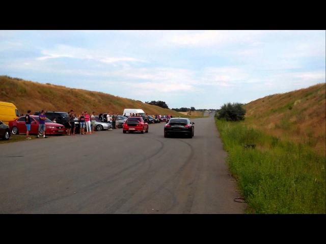 Subaru GC8 2L turbo vs Porshe Panamera 4,8 L