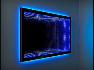 Зеркало с эффектом бесконечности. Световой тоннель от компании Новая Идея. The mirro...