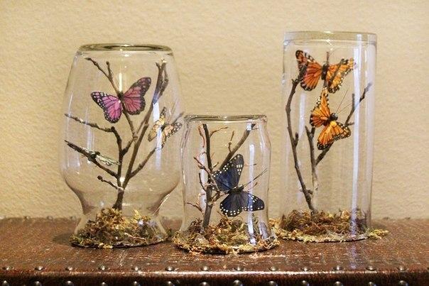 декор с  бабочками