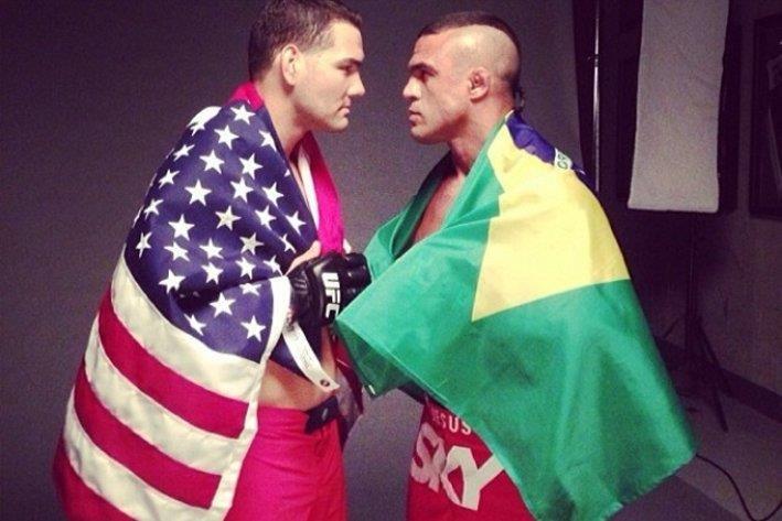 MMA, Крис Уайдман, Витор Белфорт, UFC, смешанные единоборства, видео