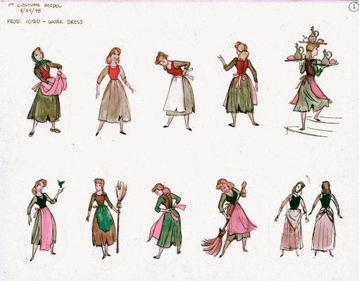 костюмы и цветовые схемы.
