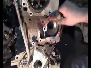 Замена помпы на рено логан видео
