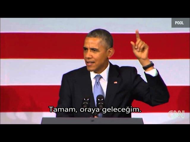 Obama'nın sözünü kesen bir adama cevabı