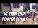 14 Year old Freshman Kevin-Mike Blaser NASTY POSTER DUNK! #SCtop10