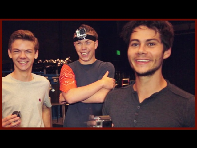 DYLAN O'BRIEN AND THE MAZE RUNNER CAST PLAY COPS AND ROBBER