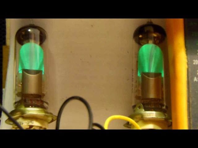 Электронно-световой индикатор 6Е1П (демонстрация и схема подключения) (6E1P indicator tube)