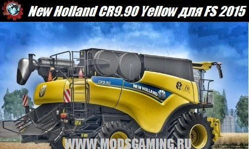 Farming Simulator 2015 download mod harvester New Holland CR9.90 Yellow