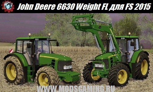 Farming Simulator 2015 download mod tractor John Deere 6630 Weight FL