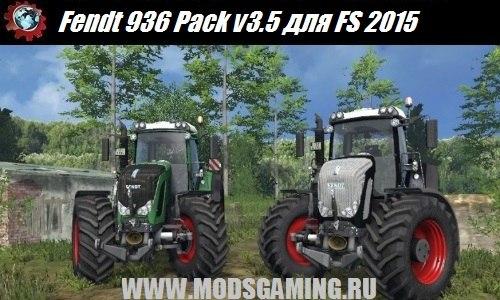 Farming Simulator 2015 download mod tractor Fendt 936 Pack v3.5