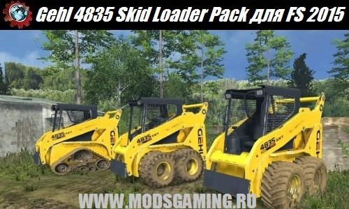Farming Simulator 2015 download mod tractors Gehl 4835 Skid Loader Pack v3.0
