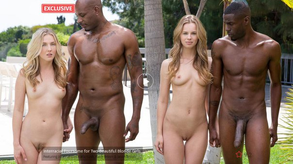 BLACK – Interracial Foursome for Two Beautiful Blonde Girls – Jillian Janson, Karla Kush, Flash Brown & Jason Brown