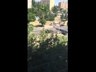 Одесса: Передвижение Хамеров прибывших из США 18/07/2015