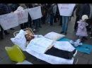 Вот УРОДЫ! Фальшивые беженцы с КРЫМА на митинге против Путина Новости Украины се...