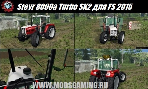 Farming Simulator 2015 download mod tractor Steyr 8090a Turbo SK2 Electronic