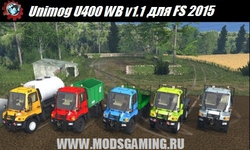 Farming Simulator 2015 download mod trucks Unimog U400 WB v1.1
