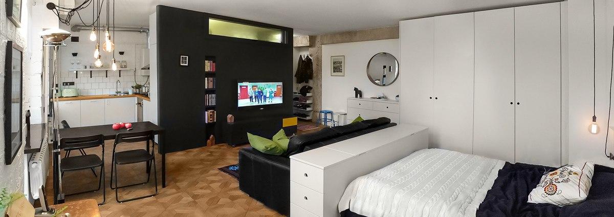 Дизайн квартиры 43 м в Москве.