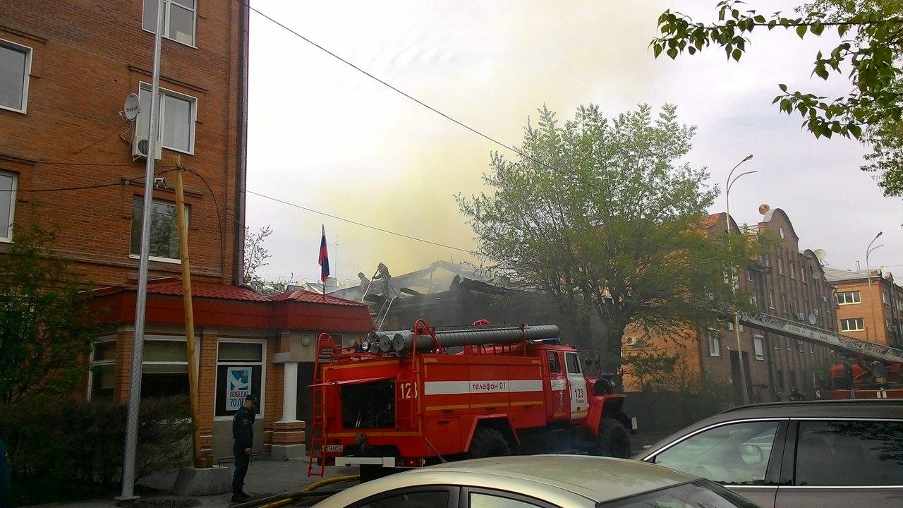 Пожар на Кирова: горел памятник архитектуры 19 века 3