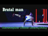 Workout strong brutal man Christopher James Luera (USA)