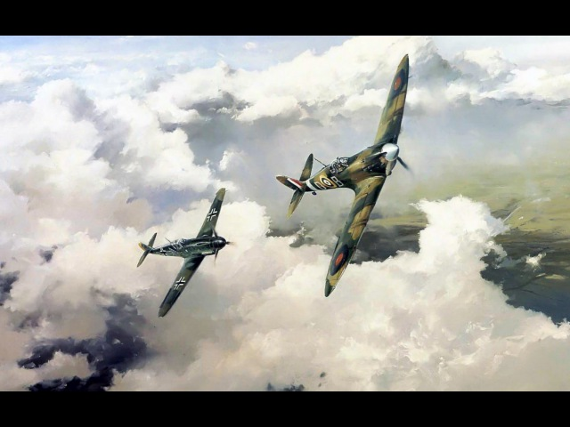 Дуэль BF 109 F-4 vs Spitfire Mk Vb в ИЛ-2 Штурмовик, мод HSFX