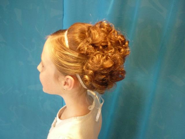 Elegant Updo With Curls For Medium Length Hair