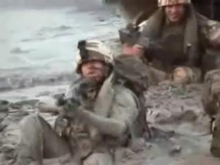 Высадка солдат НАТО на берег
