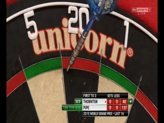 Robert Thornton vs Justin Pipe (World Grand Prix 2015 / Round 2)