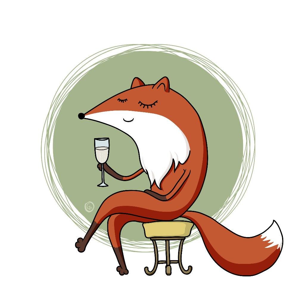 Смешные лисы рисунок