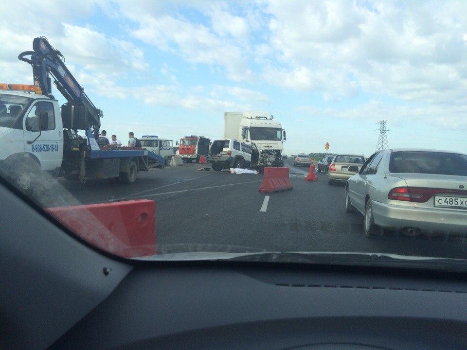 ДТП авария на 1298 км трассы М4 ДОН в Краснодарском крае ремонт 12.07.2015