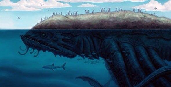 Sea giant monster