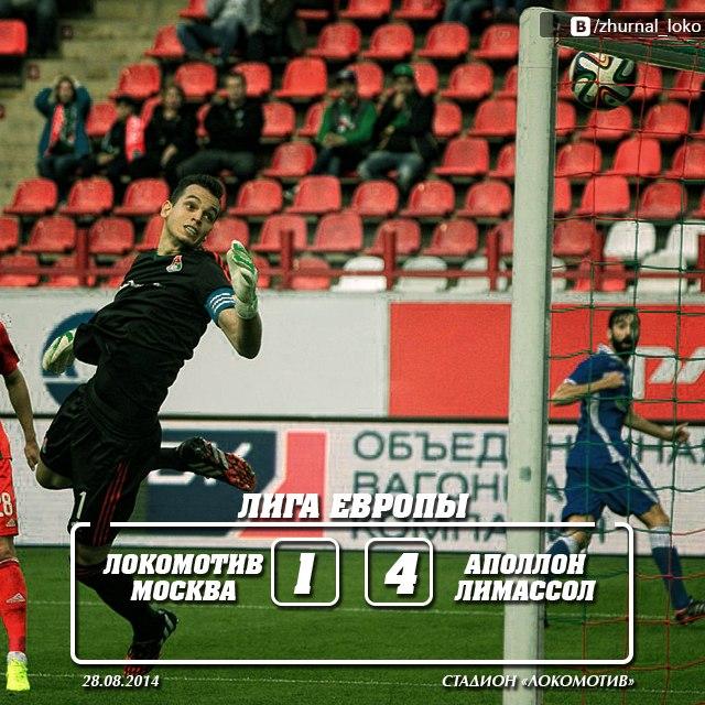 Лига Европы Локомотив - Аполлон 1-4