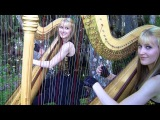 SMOKE ON THE WATER (Deep Purple) Harp Twins - Camille and Kennerly HARP ROCKMETAL