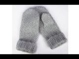 Варежки крючком для мамы - Crochet mittens - рельефные варежки