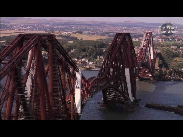 Scotland from Above Edinburgh to Fingals Cave Route (HD)