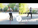 Слалом на роликах: Criss-Cross, monoline, one foot | askroller