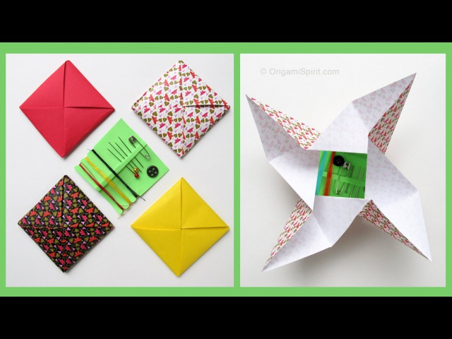 Origami Envelope -Menko Sobre Cuadrado