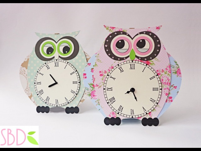 Orologio da muro Gufo fai da te DIY Owl wall clock