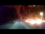 Поездка по горящей долине в Калифорнии