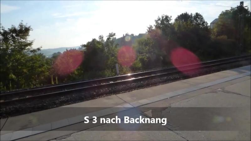 Osterfeld [am Bahnsteig] - S-Bahn Stuttgart mit ET 420 - ET 430 Regionalzug
