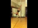 Pole dance уроки: авторский трюк Елены Артамоновой Парус