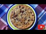 Овсяный пирог с яблоком и грушей. Низкокалорийный рецепт!