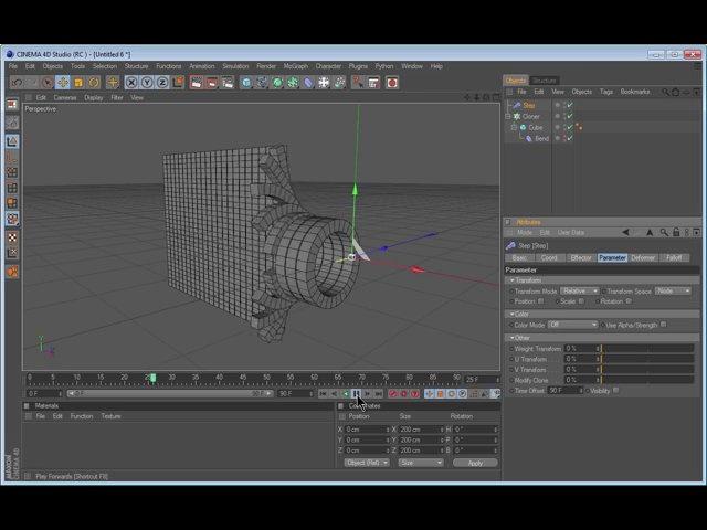 Screen Zipper / MoGraph Delayed Animation