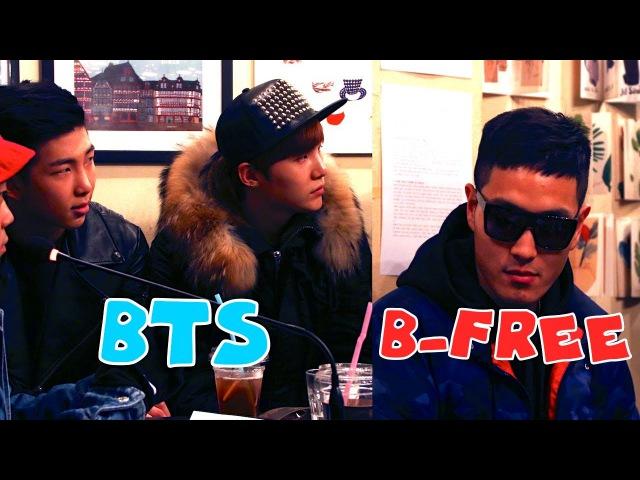 B-Free (flop) Disrespecting BTS Rap Monster Suga?