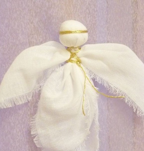 Куклы обереги ангелы своими руками из ткани с мастер классом