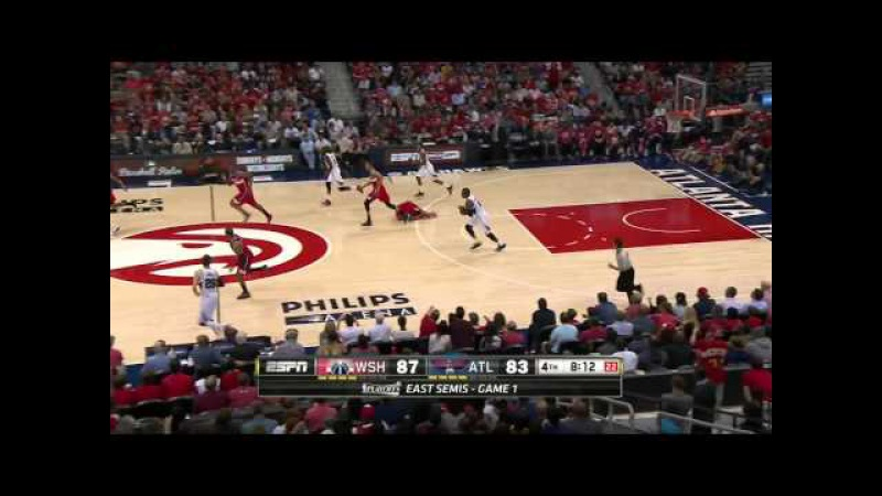 Bradley Beal Ankle Injury | Wizards vs Hawks | Game 1 | May 3, 2015 | 2015 NBA Playoffs