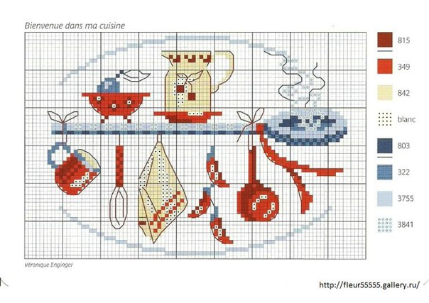 Схемы вышивок интерьеры