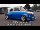 Fiat 500 with Suzuki Hayabusa Gsx-R1300 Start up, Dyno Check and revs