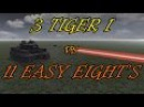Men of War Assualt Squad 2 - 3 Tiger I vs 11 Shermans - Realistic Ranges! - Editor Scenario 11