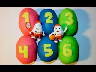 Яйца Киндер Сюрприз, Плей ДО: цифры и цвета! Play Doh Kinder Surprise Eggs キンダーサプライズ - 킨더 서프라이즈